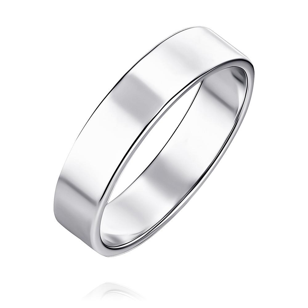 Обручальное кольцо из белого золота 585 пробы