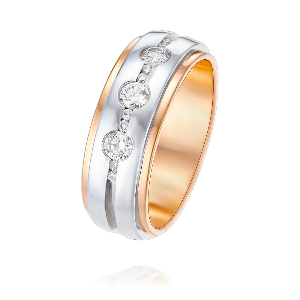 Купить Кольцо из красного золота 585 пробы с бриллиантом, Другие, Красный, 1257588/01-А501Д-41