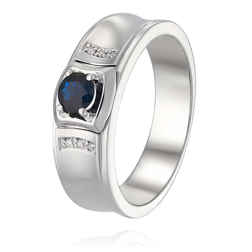 Купить Кольцо из белого золота 585 пробы с бриллиантом, сапфиром, АДАМАС, Белый, 1316690-А51Д-432