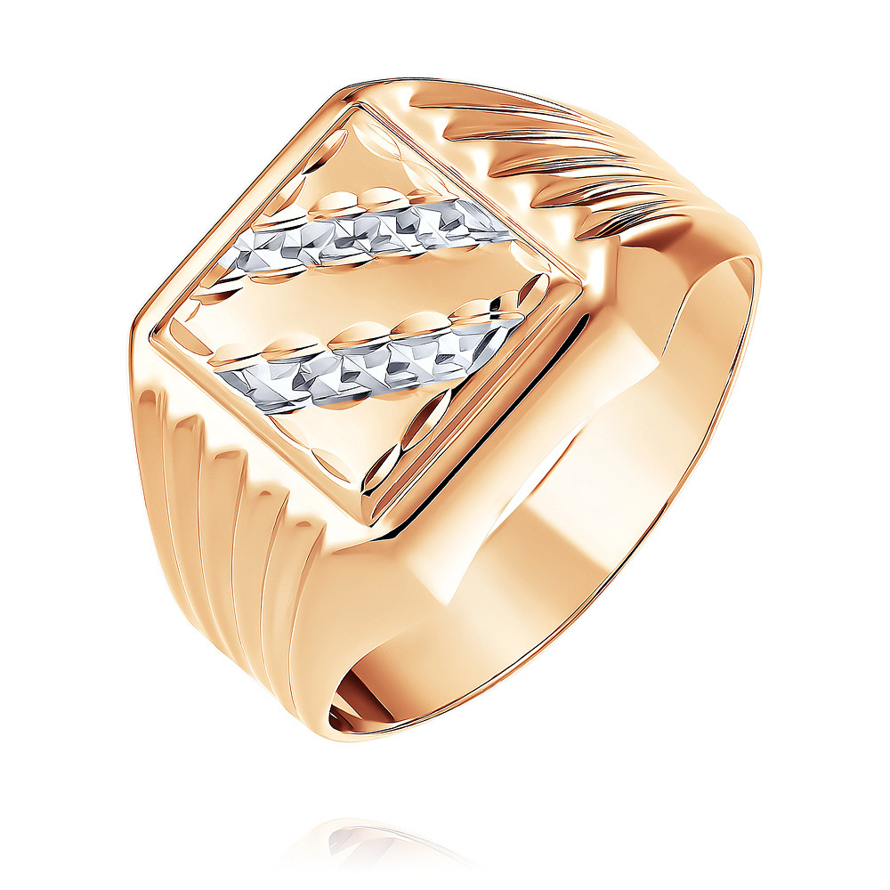 Купить Кольцо из красного золота 585 пробы, Другие, Красный, Для мужчин, 1332443/01-А507Д-01