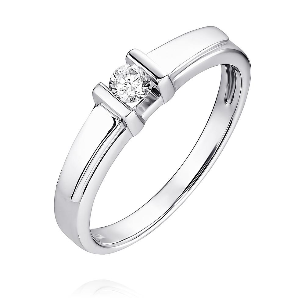Купить Кольцо из белого золота 585 пробы с бриллиантом, АДАМАС, Белый, Для женщин, 1400835-А51-41