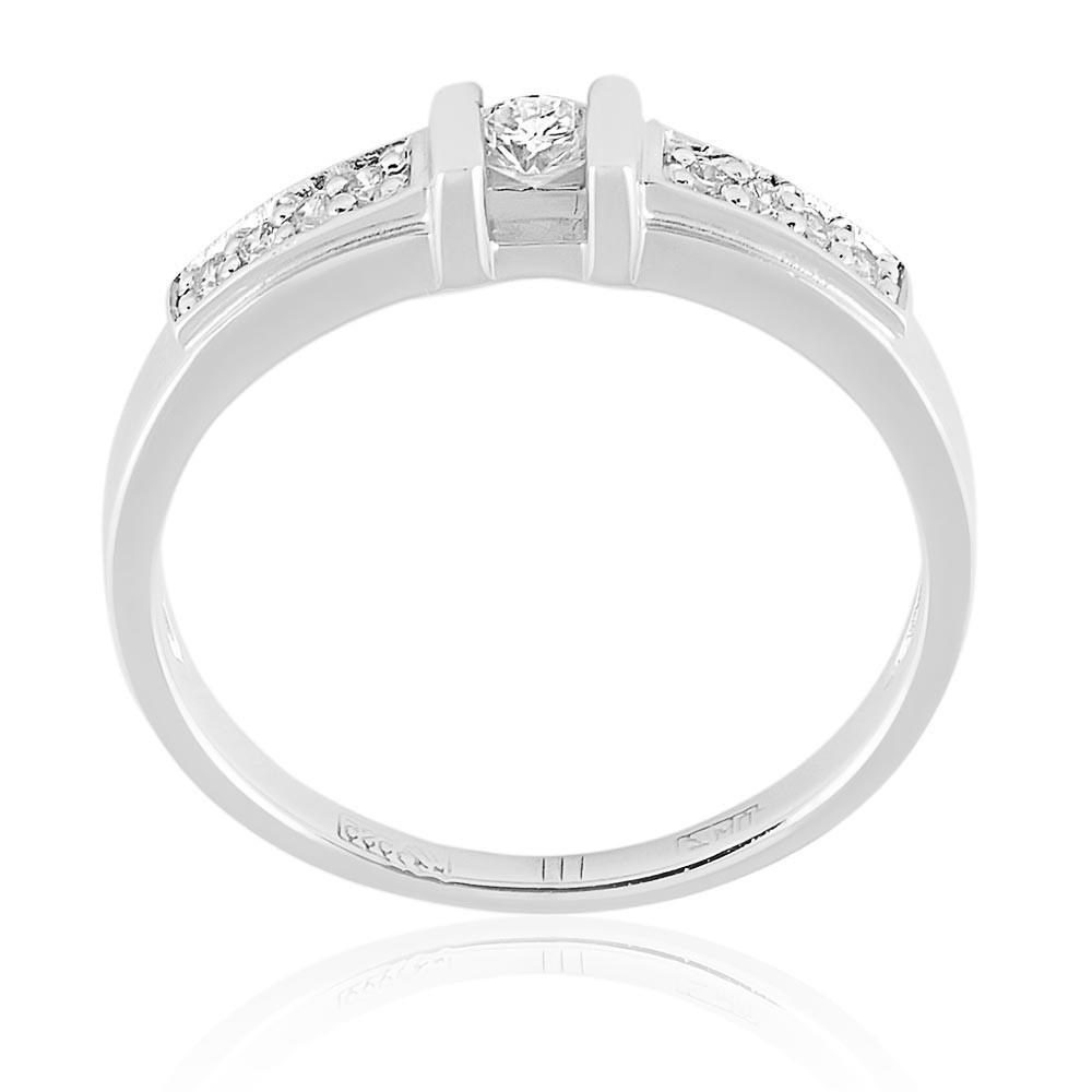 Купить Кольцо из белого золота 585 пробы с бриллиантом, АДАМАС, Белый, Для женщин, 1400836-А51-41