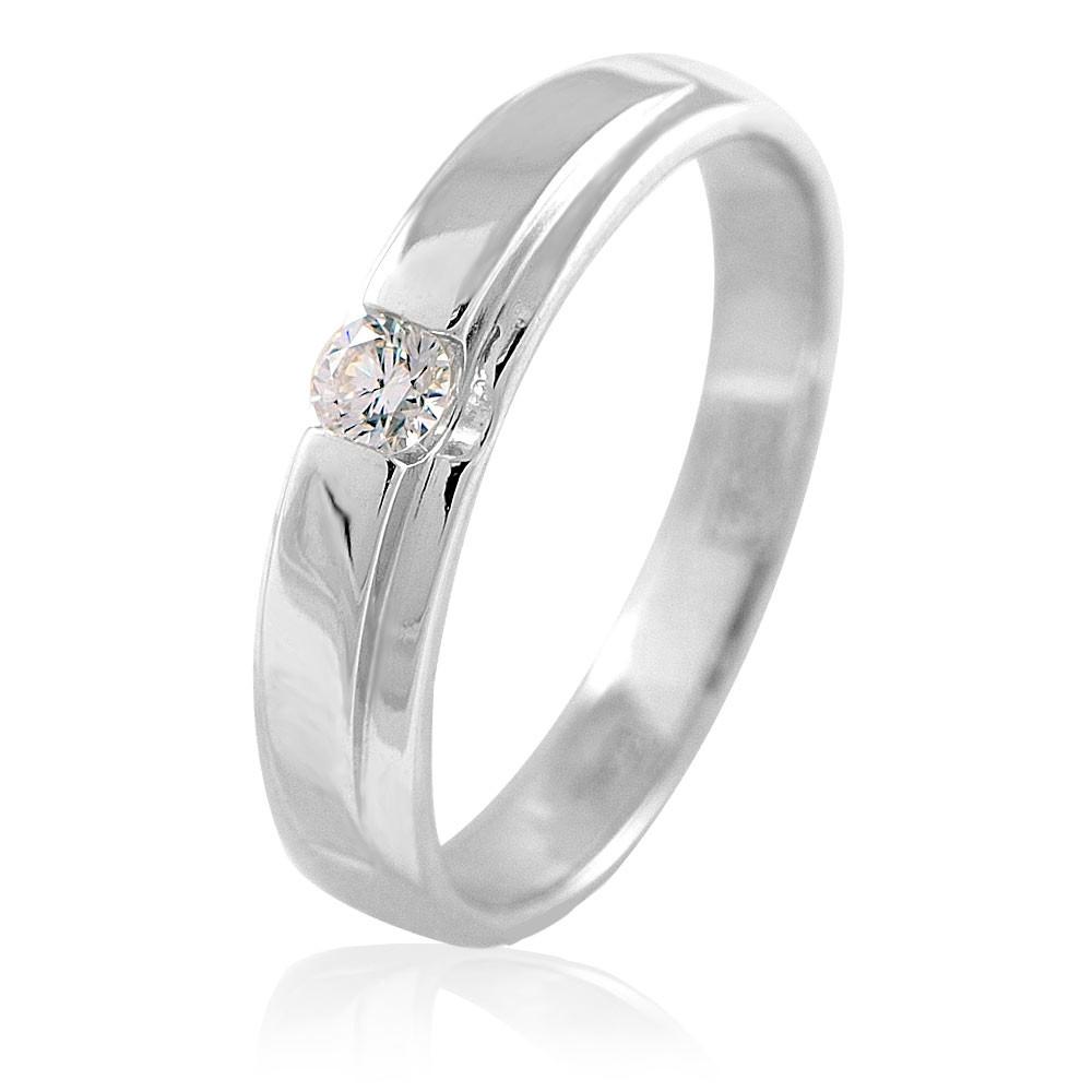Купить Кольцо из белого золота 585 пробы с бриллиантом, АДАМАС, Белый, Для женщин, 1400841-А51-41