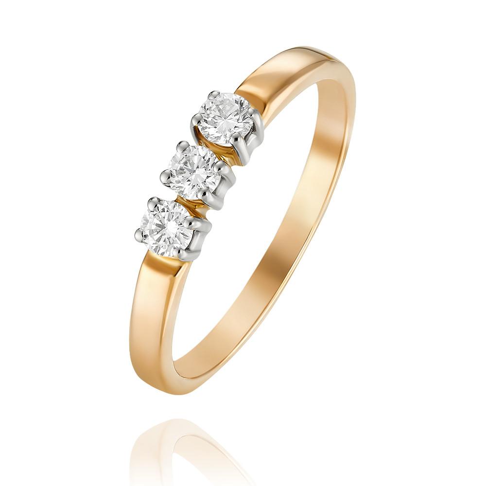 Купить Кольцо из красного золота 585 пробы с бриллиантом, Другие, Красный, Для женщин, 1401612/02-А501-41