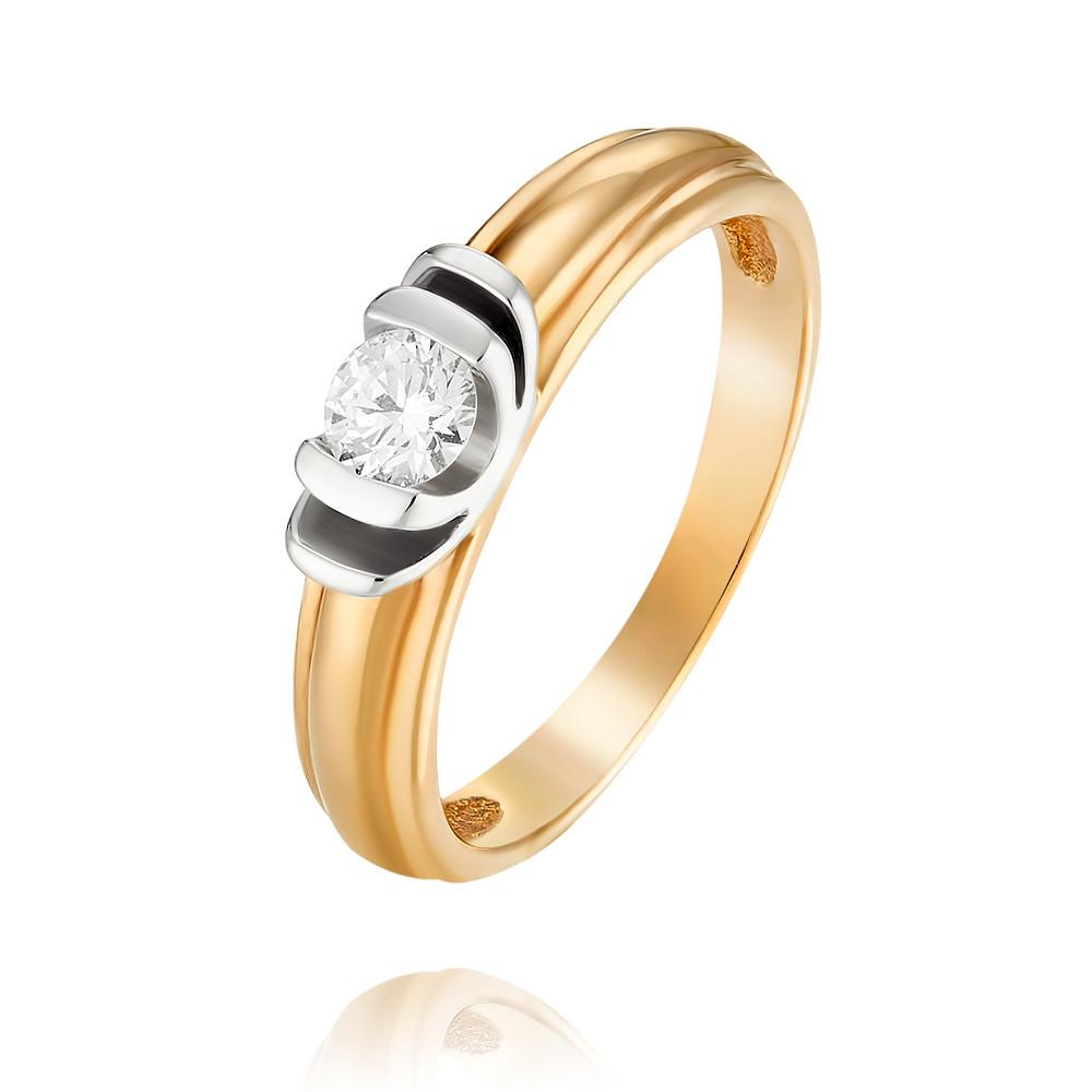 Купить Кольцо из красного золота 585 пробы с бриллиантом, Другие, Красный, Для женщин, 1401660/02-А501-41