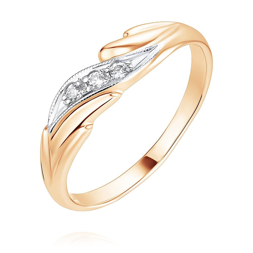 Купить Кольцо из красного золота 585 пробы с фианитом, Другие, Красный, Для женщин, 1401766/01-А50Д-72