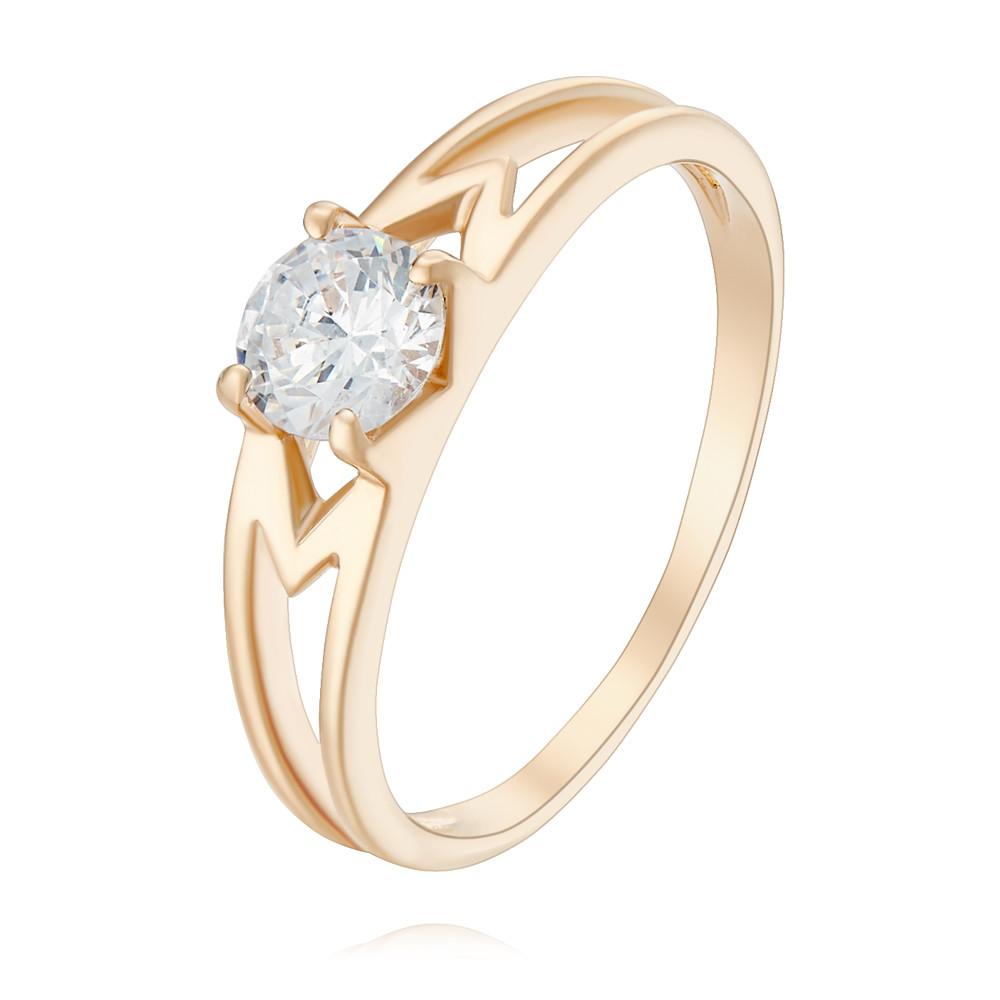 Купить Кольцо из красного золота 585 пробы с фианитом, Другие, Красный, Для женщин, 1401819/01-А50Д-72