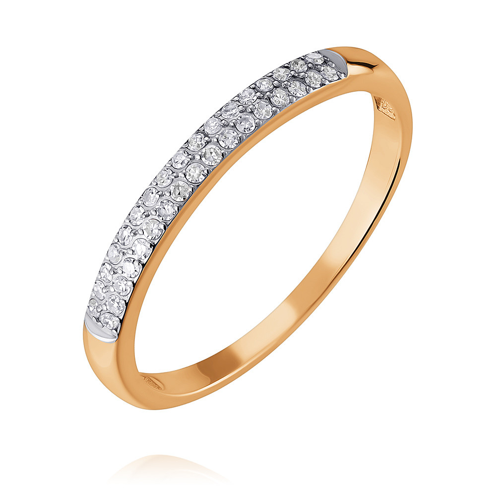 Купить Кольцо из красного золота 585 пробы с бриллиантом, SOKOLOV, Красный, Для женщин, 1403775/01-А501-41