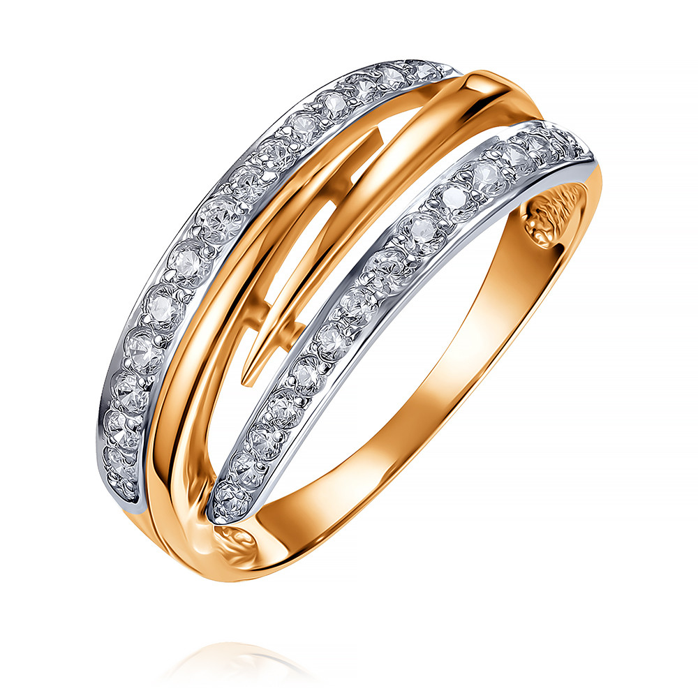 Купить Кольцо из красного золота 585 пробы с фианитом, Другие, Красный, Для женщин, 1405197/01-А50Д-72