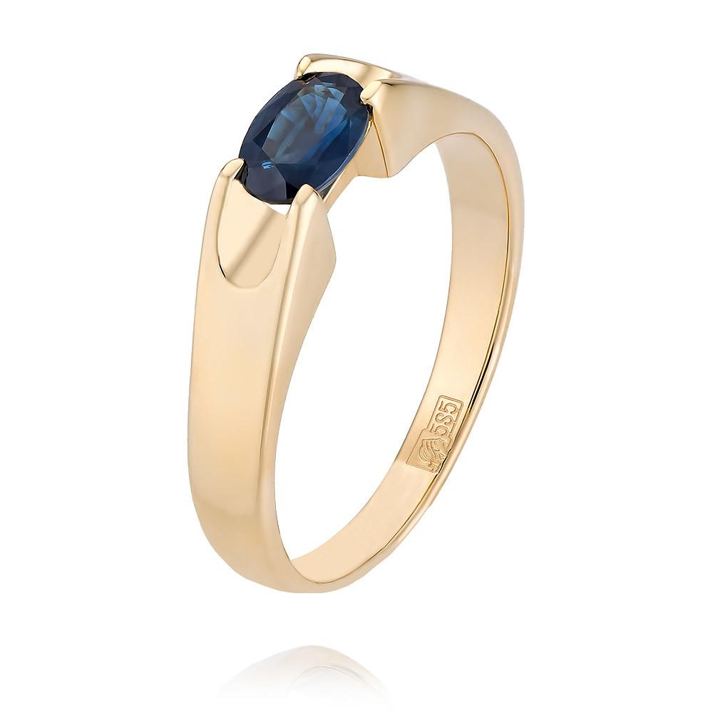 Купить Кольцо из желтого золота 585 пробы с сапфиром, АДАМАС, Желтый, 1406247-А555-542
