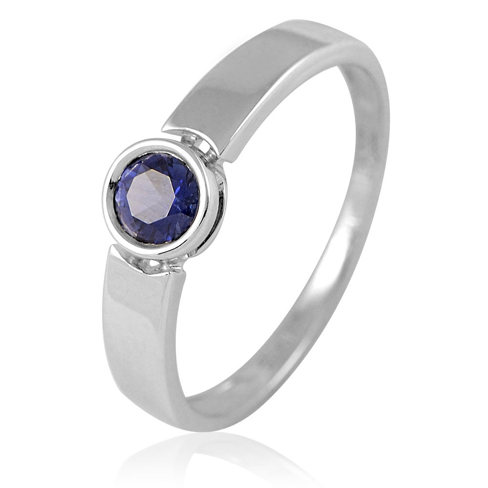 Купить Кольцо из белого золота 585 пробы с сапфиром, АДАМАС, Белый, 1410862-А51Д-542