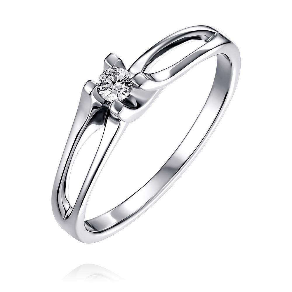 Купить Кольцо из белого золота 585 пробы с бриллиантом, АДАМАС, Белый, Для женщин, 1410992-А51Д-41