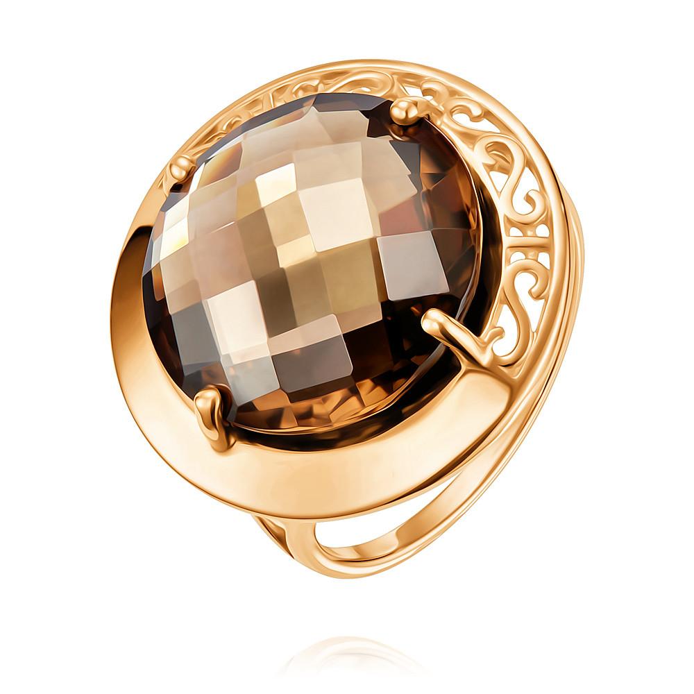 Купить Кольцо из красного золота 585 пробы с кварцем, АДАМАС, Красный, 1411817-А500-626
