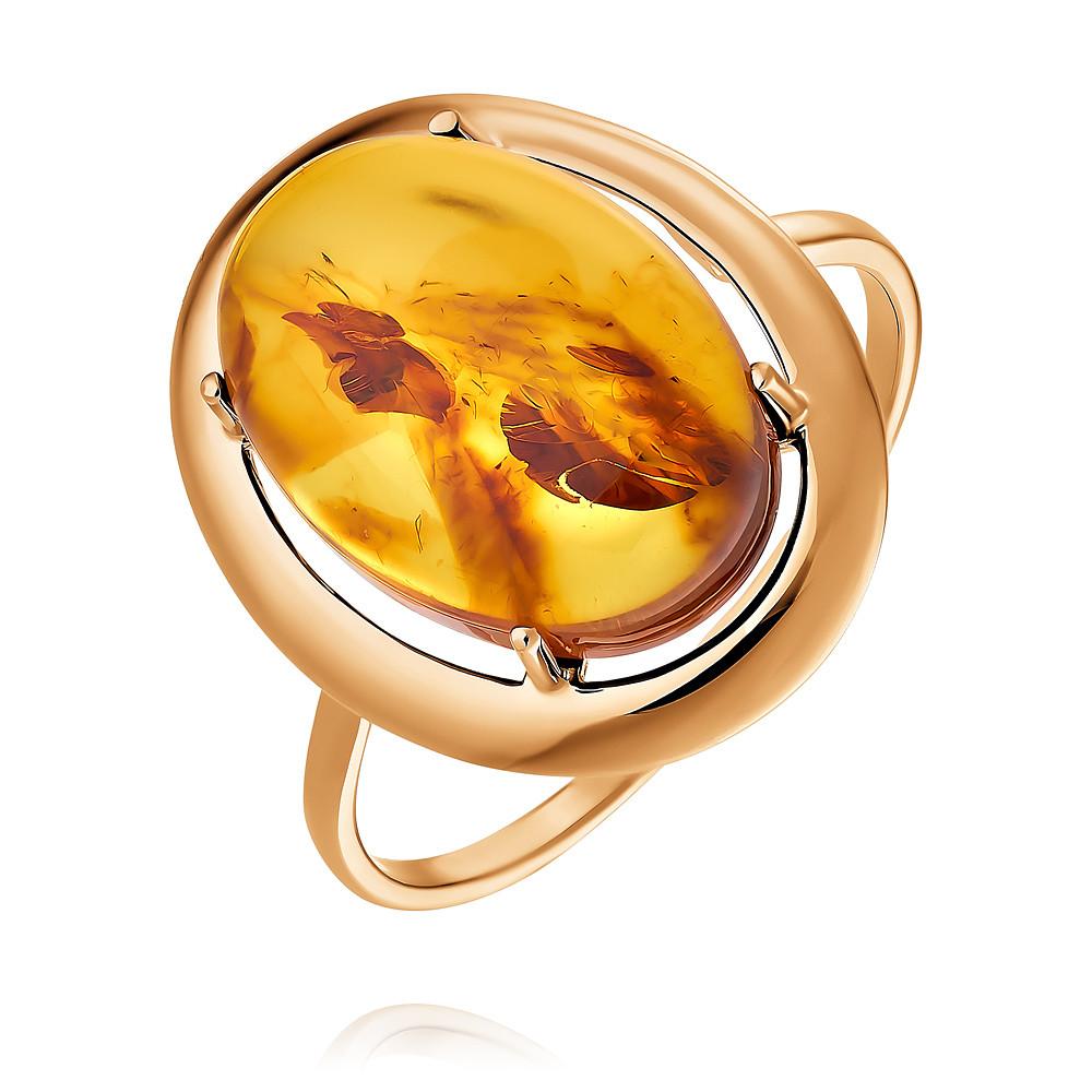 Кольцо из красного золота 585 с янтарем арт. 8812-1 - купить в  интернет-магазине «Монисто» по доступной цене   1000x1000
