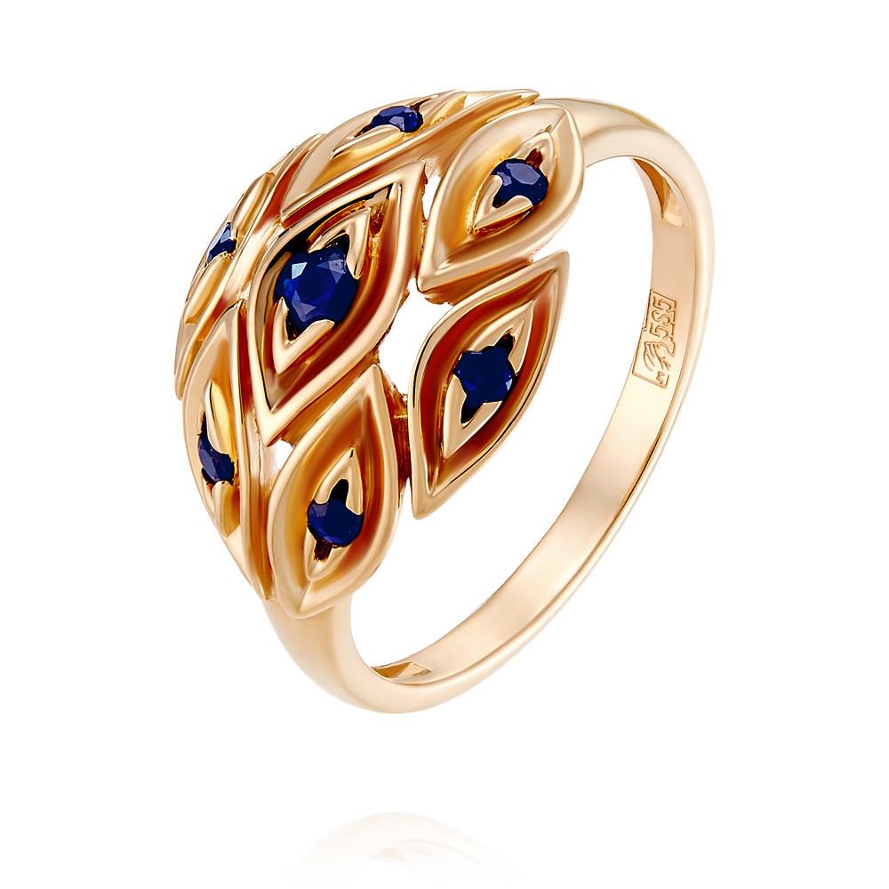 Купить со скидкой Кольцо из красного золота 585 пробы с сапфиром