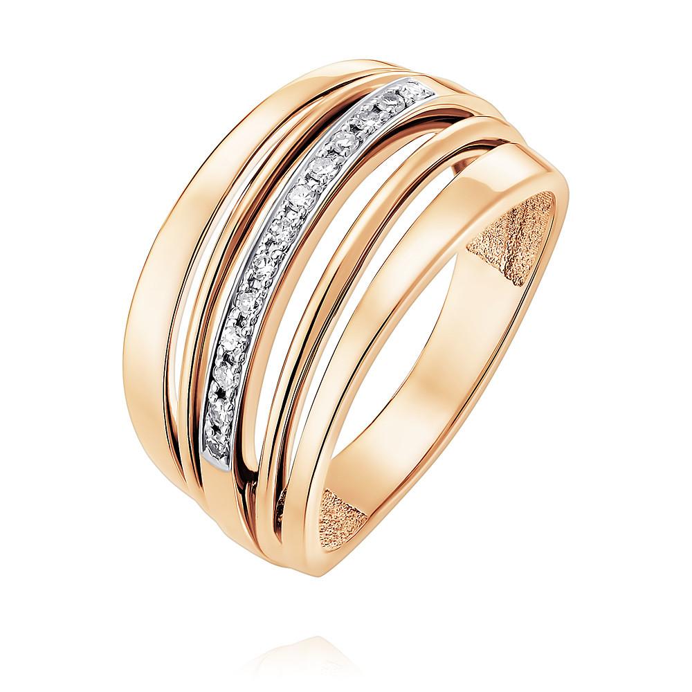 Кольцо из красного золота 585 пробы с бриллиантомКольца<br><br><br>Вставка: Бриллиант<br>Вес: 4.47 г<br>Артикул: 1418025-А500Д-41<br>Цвет: Красный<br>Металл: Золото<br>Проба: 585<br>Пол: None