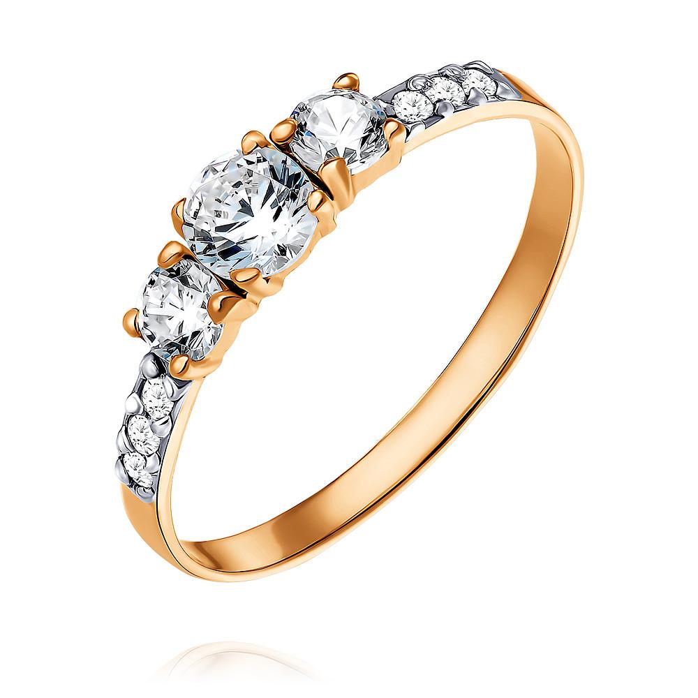 Кольцо из красного золота 585 пробы с фианитомКольца<br><br><br>Вставка: Фианит<br>Вес: 1.05 г<br>Артикул: 1420553/01-А50-72<br>Цвет: Красный<br>Металл: Золото<br>Проба: 585<br>Пол: Для женщин