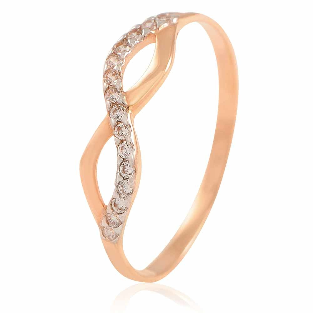 Купить Кольцо из красного золота 585 пробы с фианитом, Другие, Красный, Для женщин, 1422936/01-А50Д-72