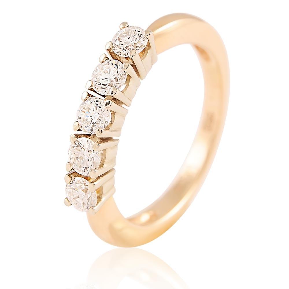 Купить Кольцо из красного золота 585 пробы с бриллиантом, Другие, Красный, Для женщин, 1427211/02-А501-41