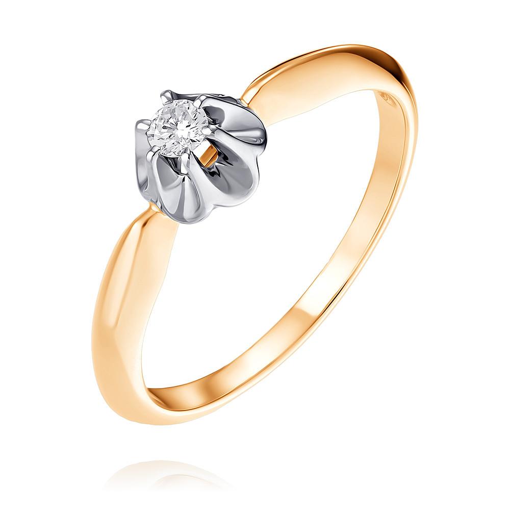 Купить Кольцо из красного золота 585 пробы с бриллиантом, Другие, Красный, Для женщин, 1434492/01-А501Д-41
