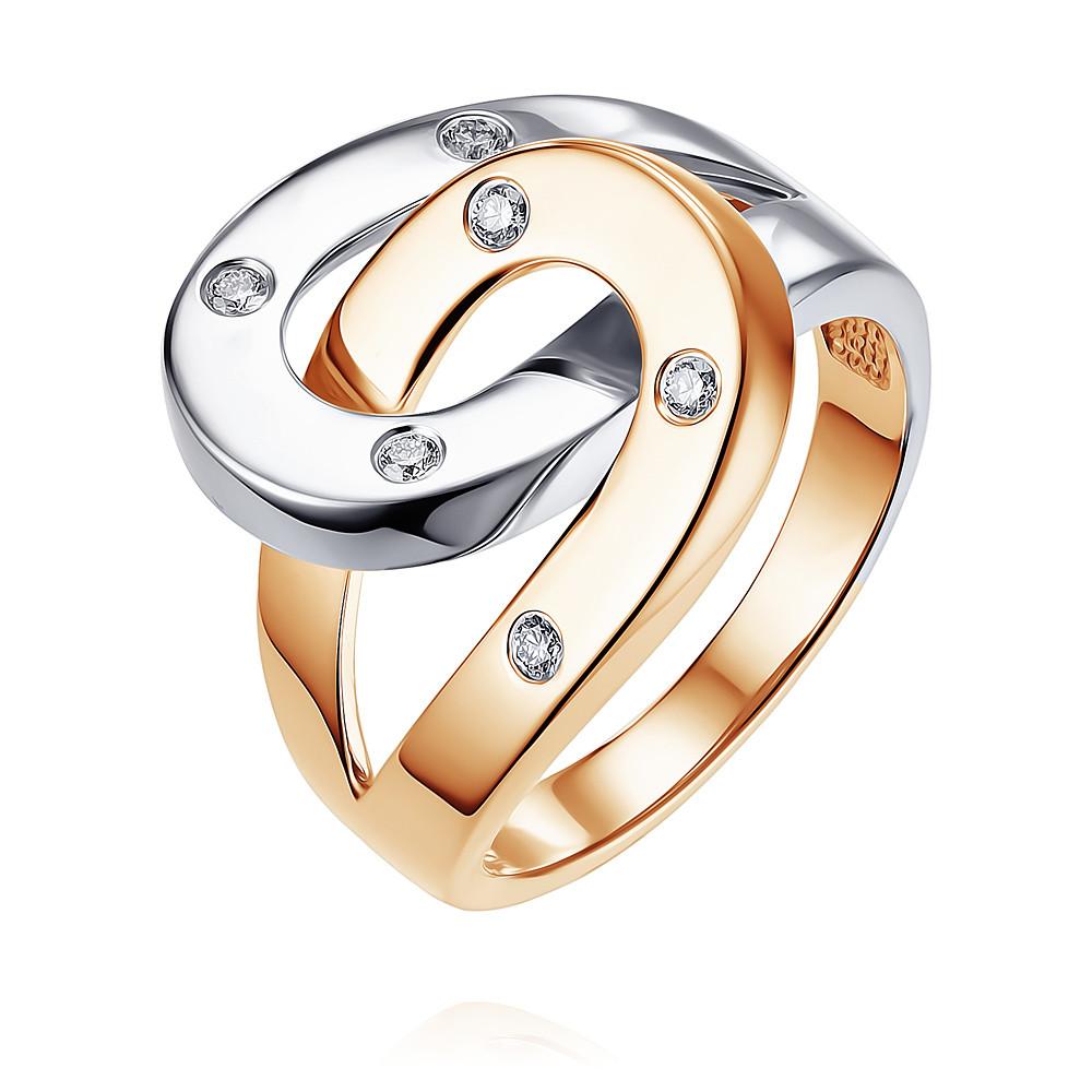 Купить Кольцо из красного золота 585 пробы с бриллиантом, SOKOLOV, Красный, Для женщин, 1435645/01-А501Д-41