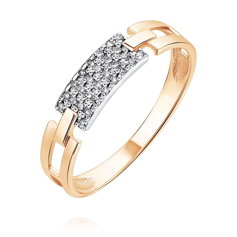 Купить Кольцо из красного золота 585 пробы с бриллиантом, Другие, Красный, Для женщин, 1437726/01-А50Д-41