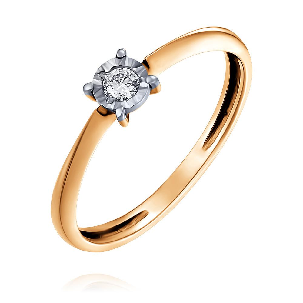 Кольцо из красного золота 585 пробы с бриллиантомКольца<br><br><br>Вставка: Бриллиант<br>Вес: 1.19 г<br>Артикул: 1437732/01-А502Д-41<br>Цвет: Красный<br>Металл: Золото<br>Проба: 585<br>Пол: Для женщин