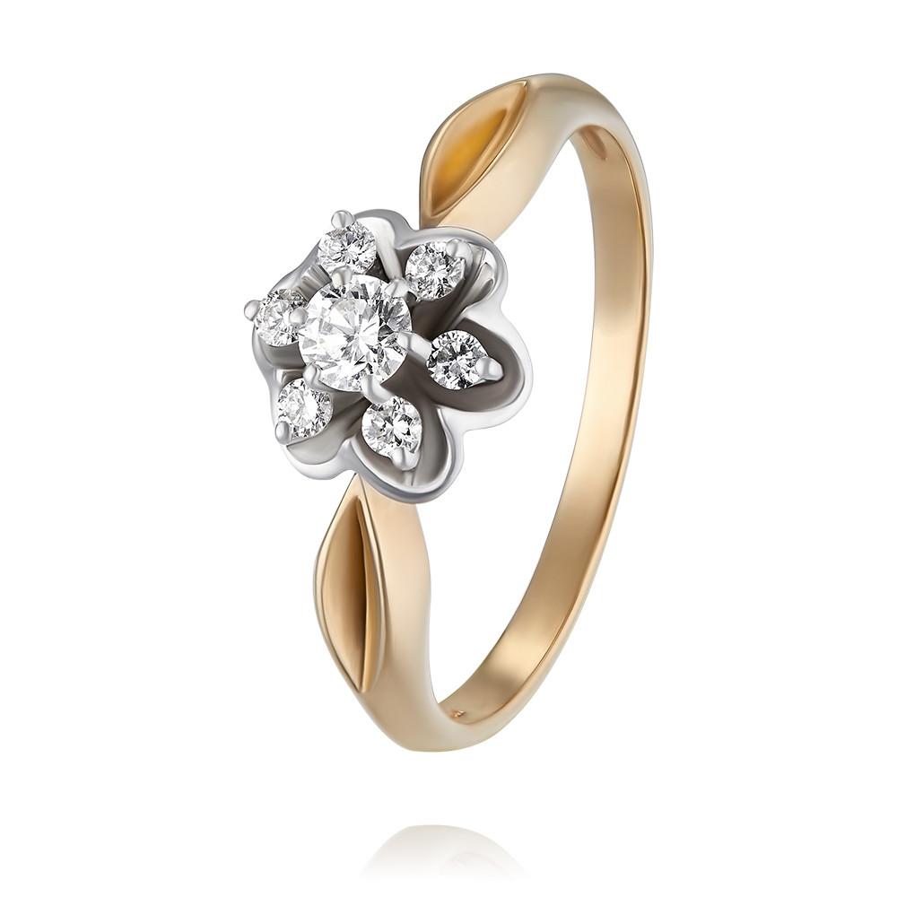 Купить Кольцо из красного золота 585 пробы с бриллиантом, Другие, Красный, Для женщин, 1441333/01-А501Д-41