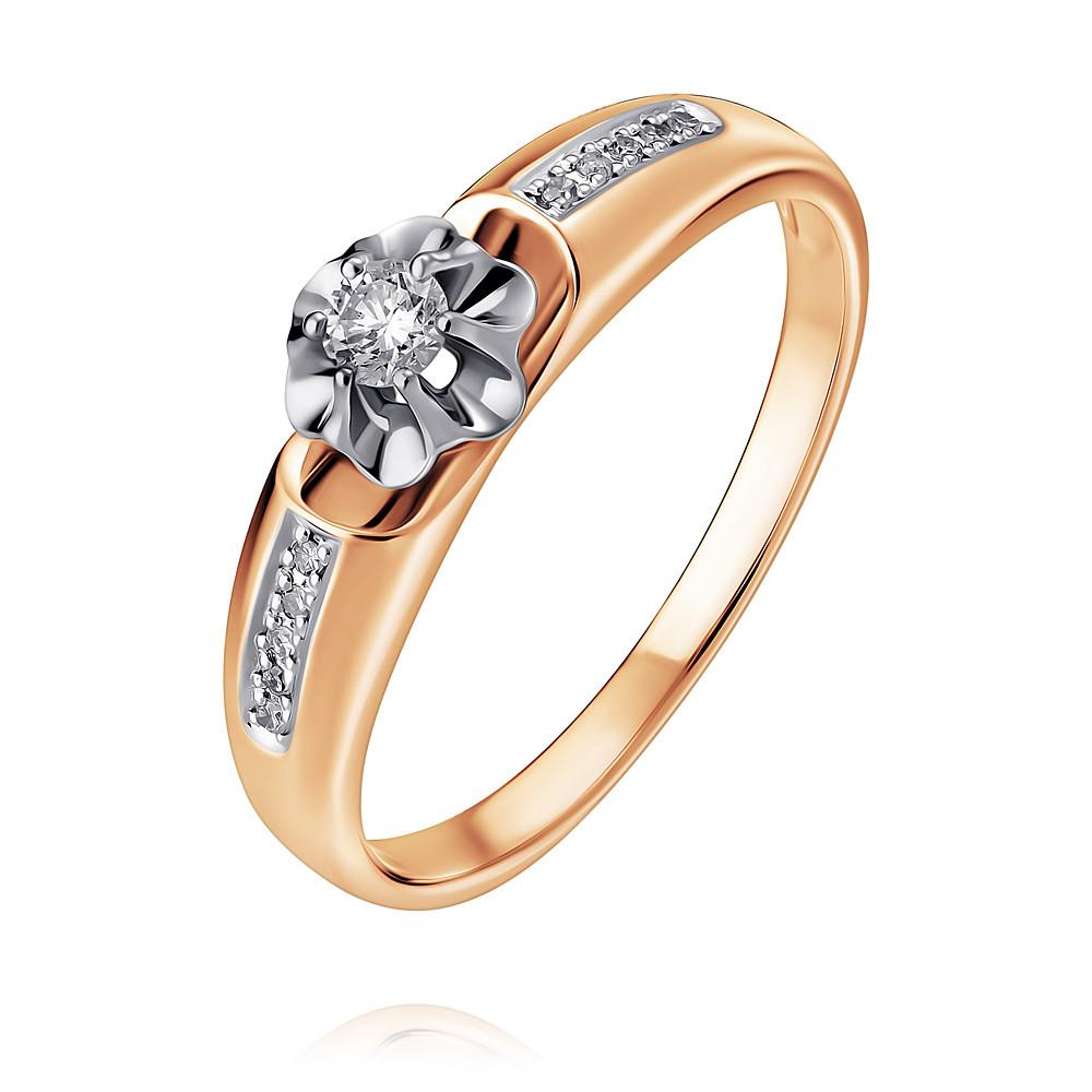 Купить Кольцо из красного золота 585 пробы с бриллиантом, SOKOLOV, Красный, Для женщин, 1442623/01-А50Д-41