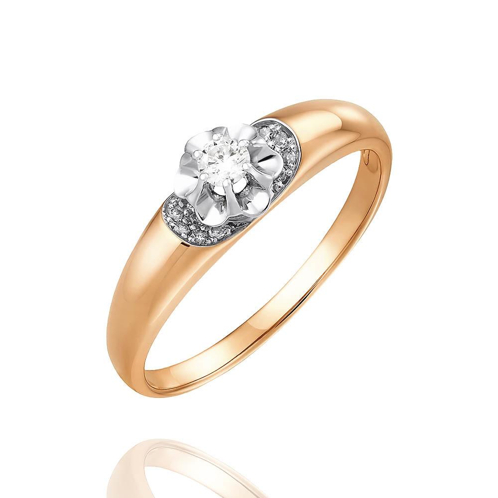 Купить Кольцо из красного золота 585 пробы с бриллиантом, SOKOLOV, Красный, Для женщин, 1443765/01-А501Д-41