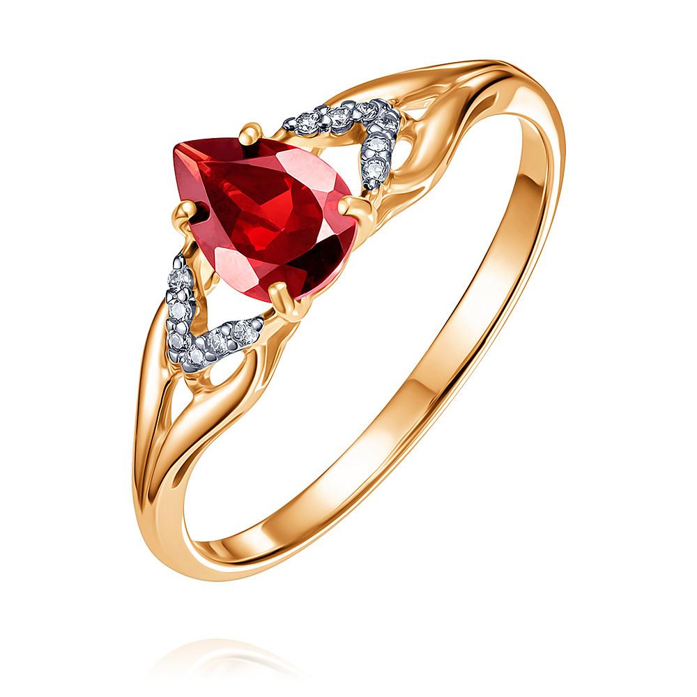 Купить Кольцо из красного золота 585 пробы с гранатом, SOKOLOV, Красный, Для женщин, 1445219/01-А50Д-655