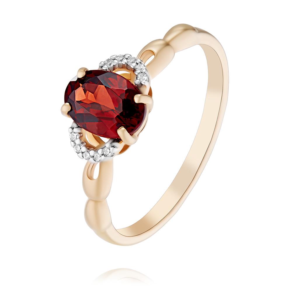 Купить Кольцо из красного золота 585 пробы с гранатом, SOKOLOV, Красный, Для женщин, 1446308/01-А50Д-655