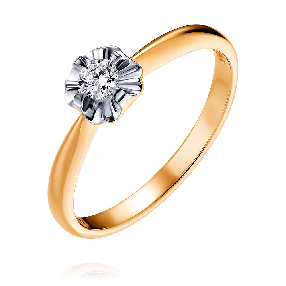 Купить Кольцо из красного золота 585 пробы с бриллиантом, SOKOLOV, Красный, Для женщин, 1447270/01-А50Д-41