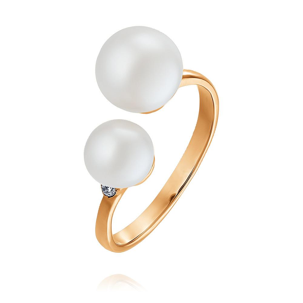Купить Кольцо из красного золота 585 пробы с жемчугом, Другие, Красный, Для женщин, 1447702/02-А50-727