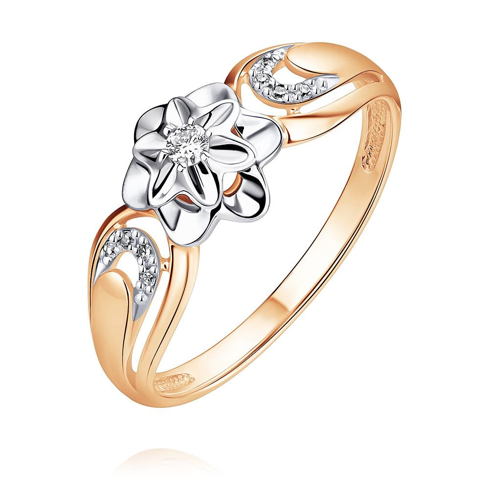 Купить Кольцо из красного золота 585 пробы с бриллиантом, SOKOLOV, Красный, Для женщин, 1448238/01-А50Д-41