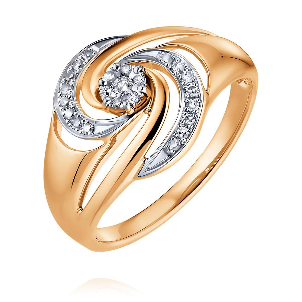 Купить Кольцо из красного золота 585 пробы с бриллиантом, SOKOLOV, Красный, Для женщин, 1450207/01-А50Д-41