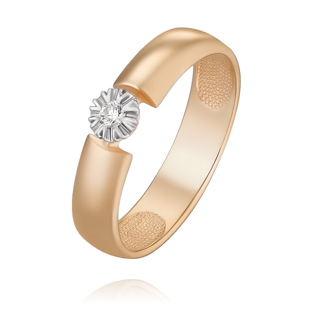 Купить Кольцо из красного золота 585 пробы с бриллиантом, SOKOLOV, Красный, Для женщин, 1450219/01-А50Д-41