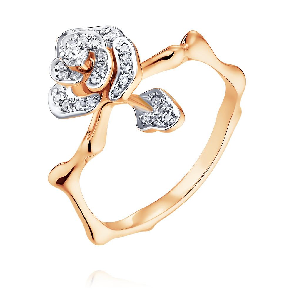 Купить Кольцо из красного золота 585 пробы с бриллиантом, SOKOLOV, Красный, Для женщин, 1450223/01-А50Д-41