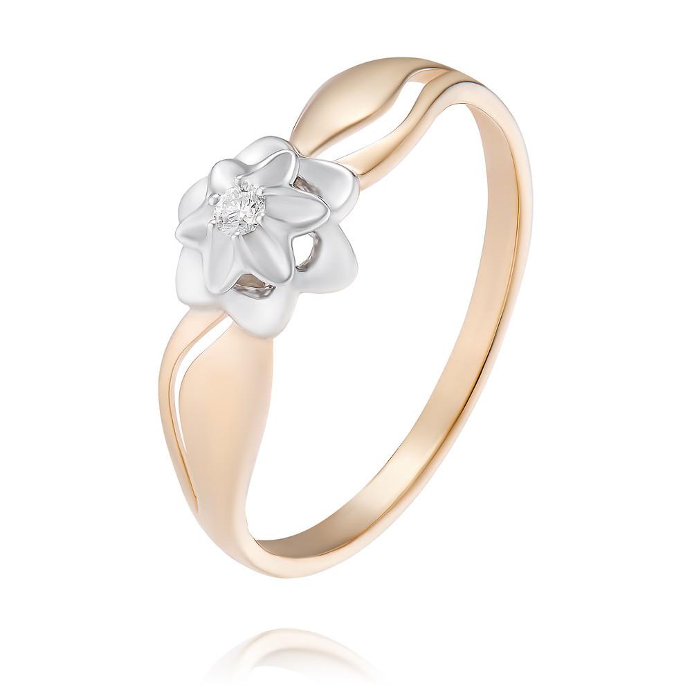 Купить Кольцо из красного золота 585 пробы с бриллиантом, SOKOLOV, Красный, Для женщин, 1450240/01-А50Д-41
