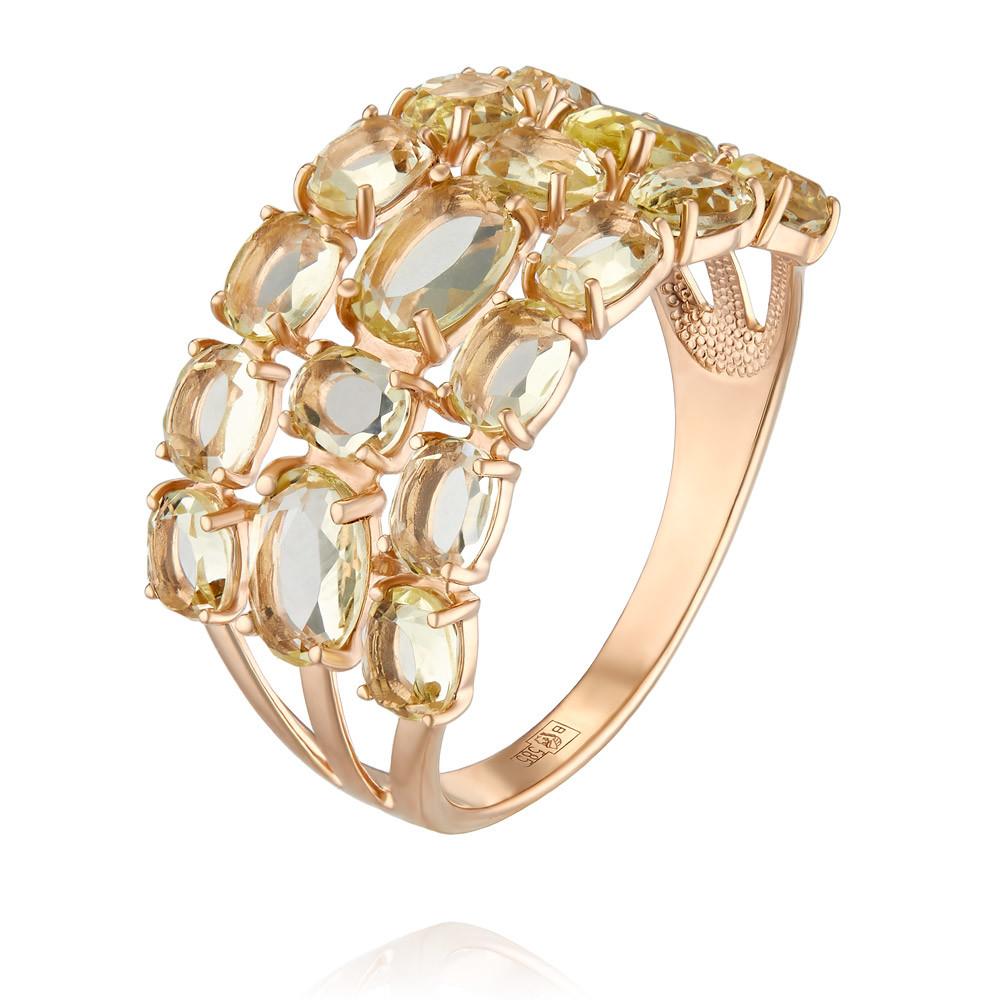 Купить Кольцо из красного золота 585 пробы с кварцем, SOKOLOV, Красный, Для женщин, 1450522/01-А50-654