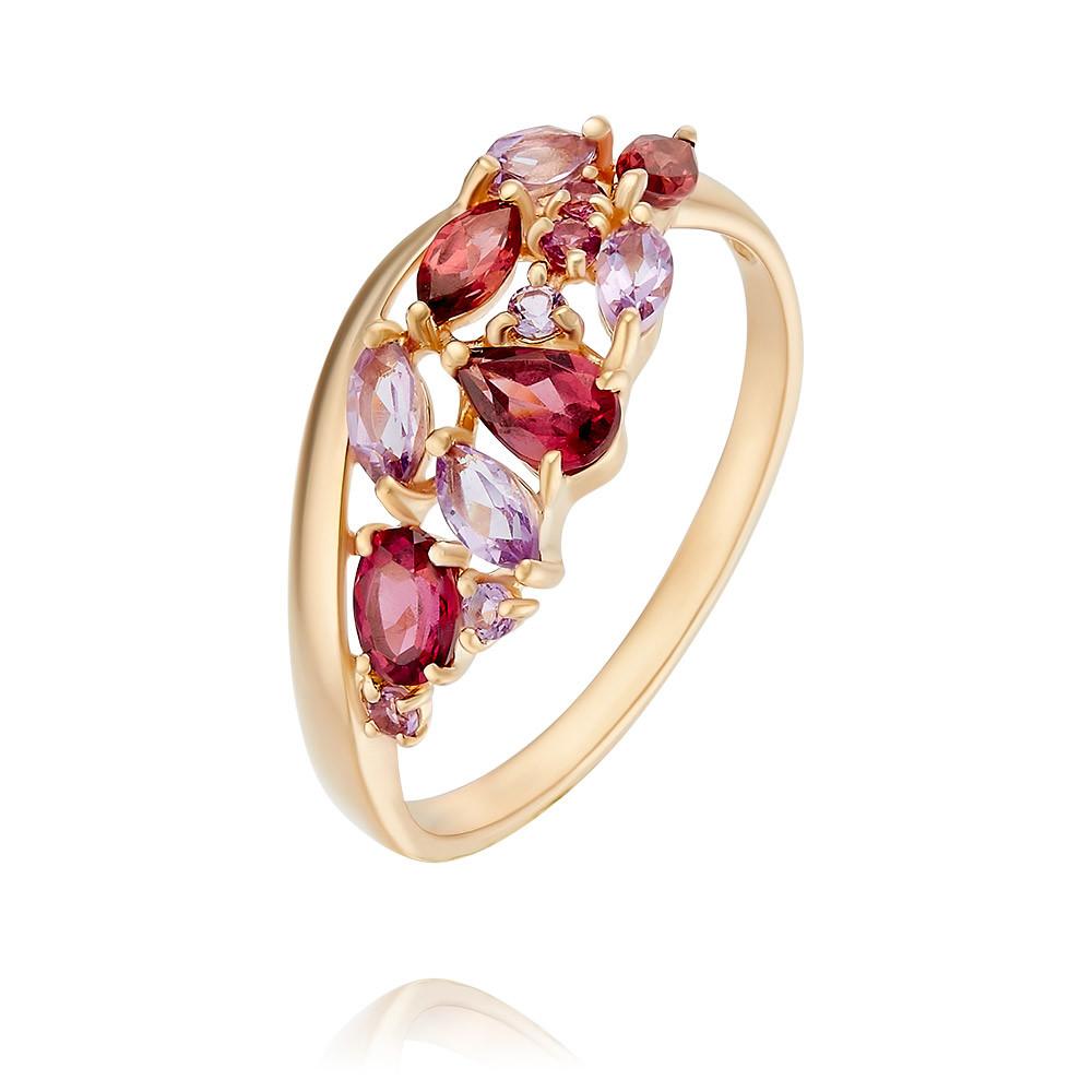 Купить Кольцо из красного золота 585 пробы с миксом вставок, SOKOLOV, Красный, Для женщин, 1451102/01-А50-670