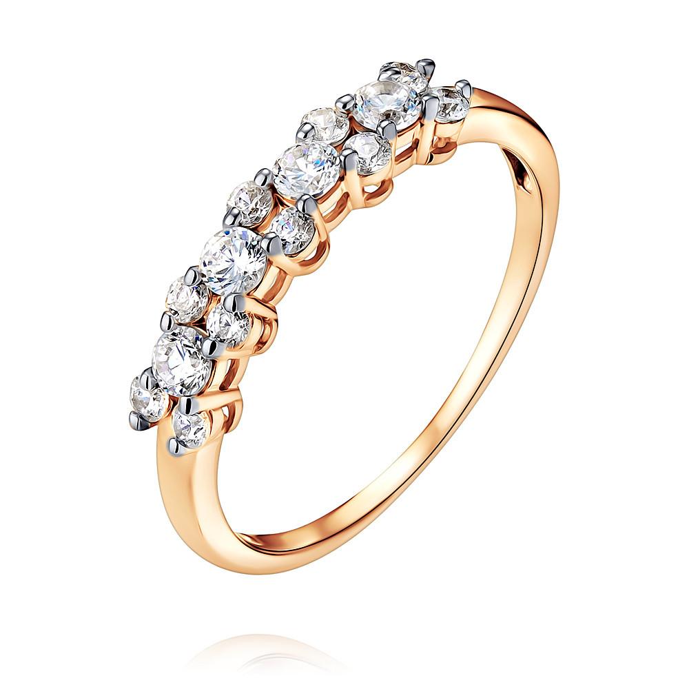 Купить Кольцо из красного золота 585 пробы с фианитом, Другие, Красный, Для женщин, 1451193/01-А50Д-72