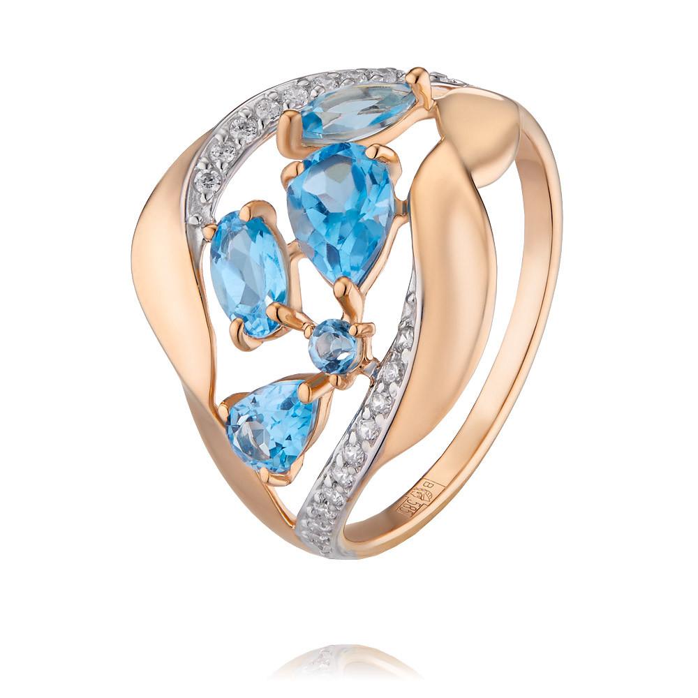 Купить Кольцо из красного золота 585 пробы с топазом, SOKOLOV, Красный, Для женщин, 1451204/01-А50Д-659