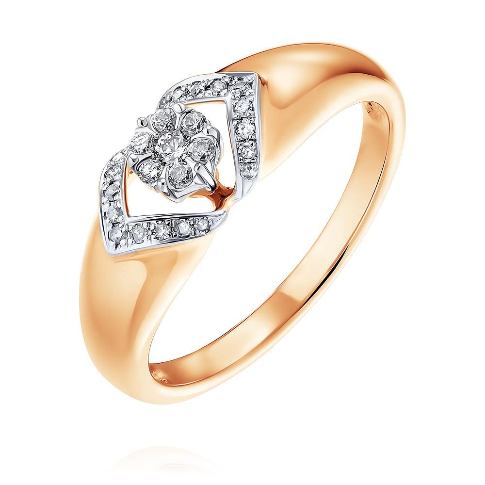 Купить Кольцо из красного золота 585 пробы с бриллиантом, SOKOLOV, Красный, Для женщин, 1451321/01-А50Д-41