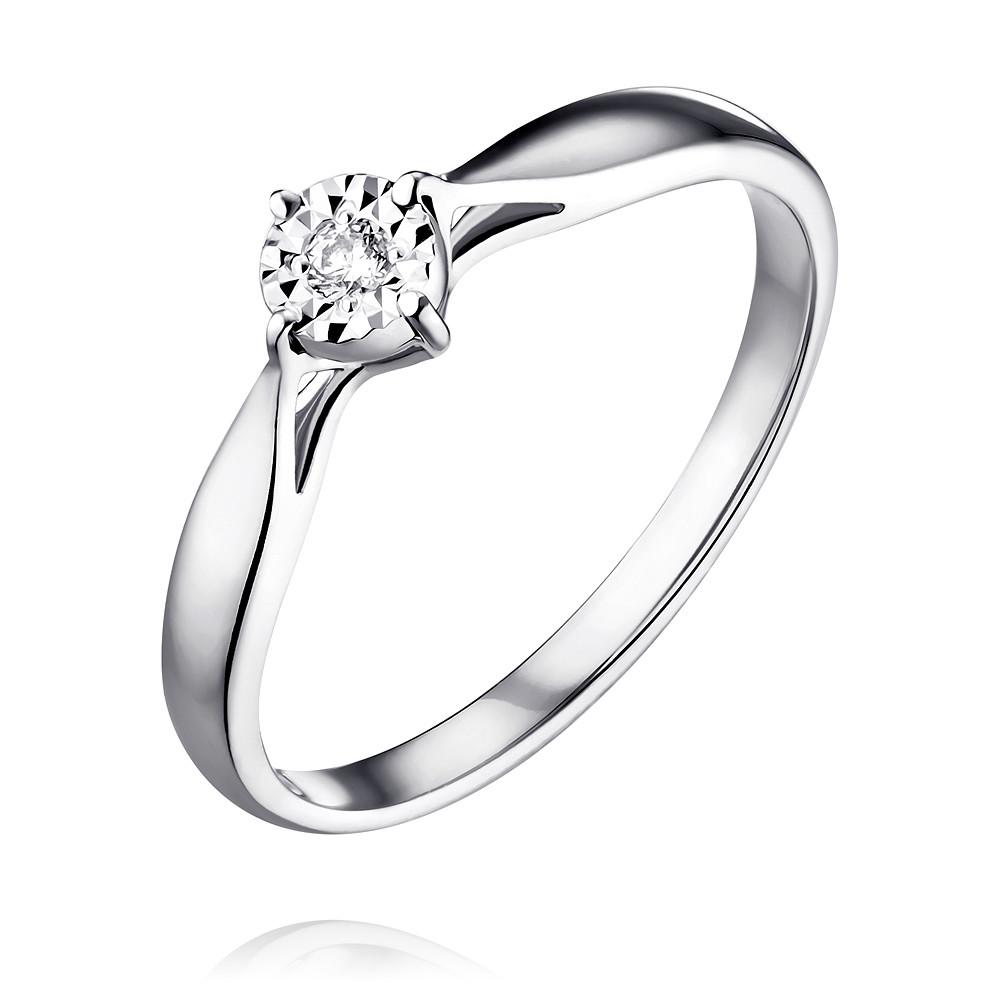 Купить Кольцо из белого золота 585 пробы с бриллиантом, SOKOLOV, Белый, Для женщин, 1451322/01-А512Д-41
