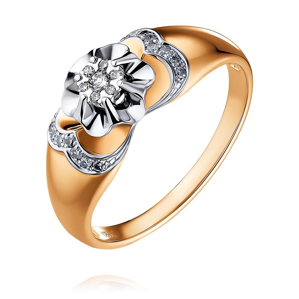 Купить Кольцо из красного золота 585 пробы с бриллиантом, SOKOLOV, Красный, Для женщин, 1451326/01-А50Д-41