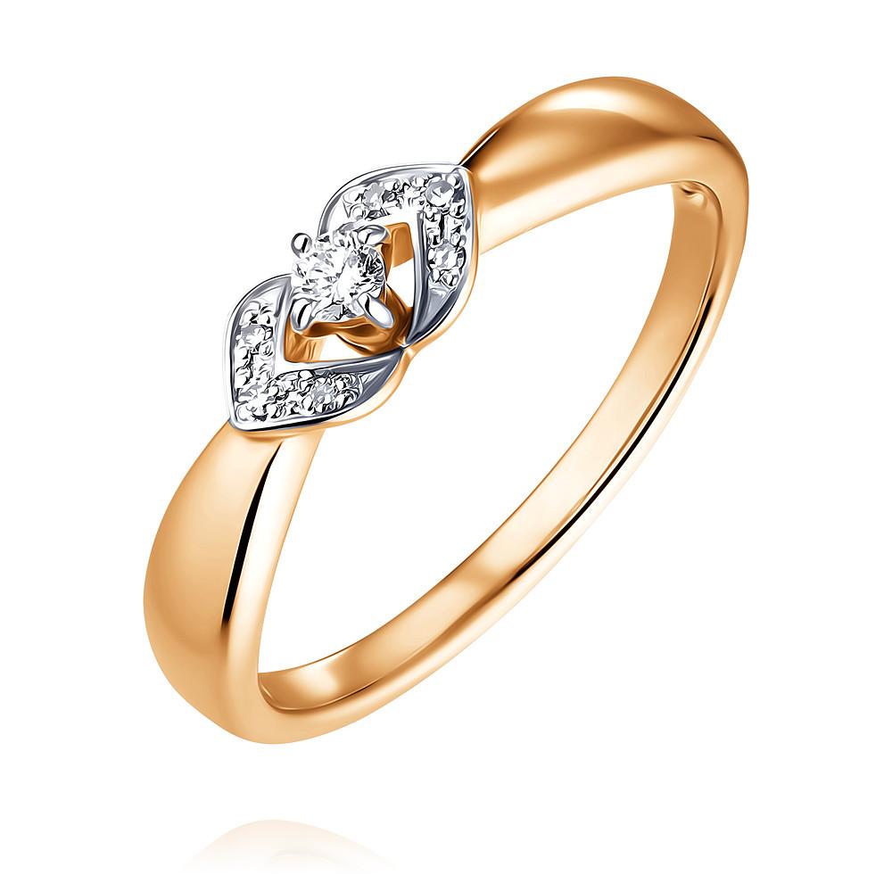 Купить Кольцо из красного золота 585 пробы с бриллиантом, SOKOLOV, Красный, Для женщин, 1452085/01-А50Д-41