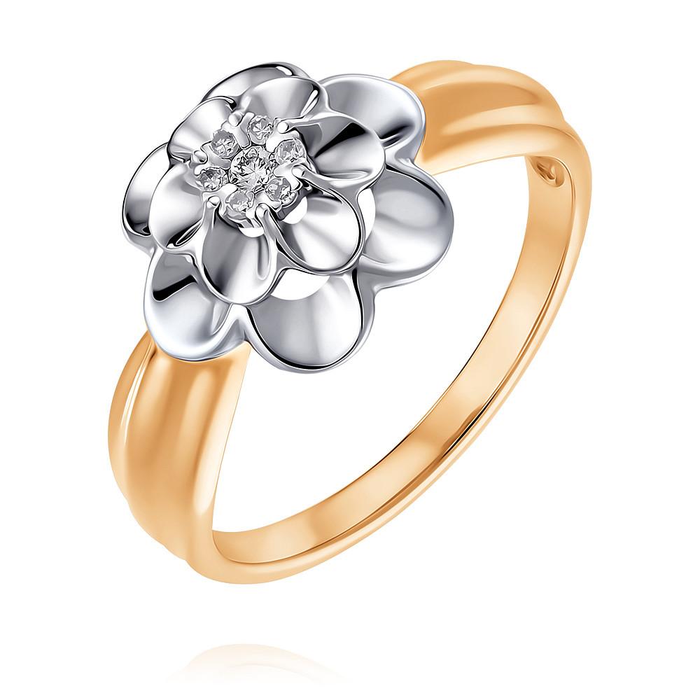 Кольцо из красного золота 585 пробы с бриллиантом, SOKOLOV, Красный, Для женщин, 1452311/01-А50Д-41  - купить со скидкой