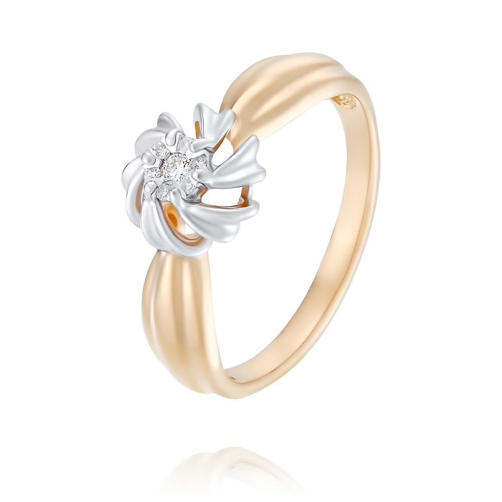 Купить Кольцо из красного золота 585 пробы с бриллиантом, SOKOLOV, Красный, Для женщин, 1452313/01-А50Д-41
