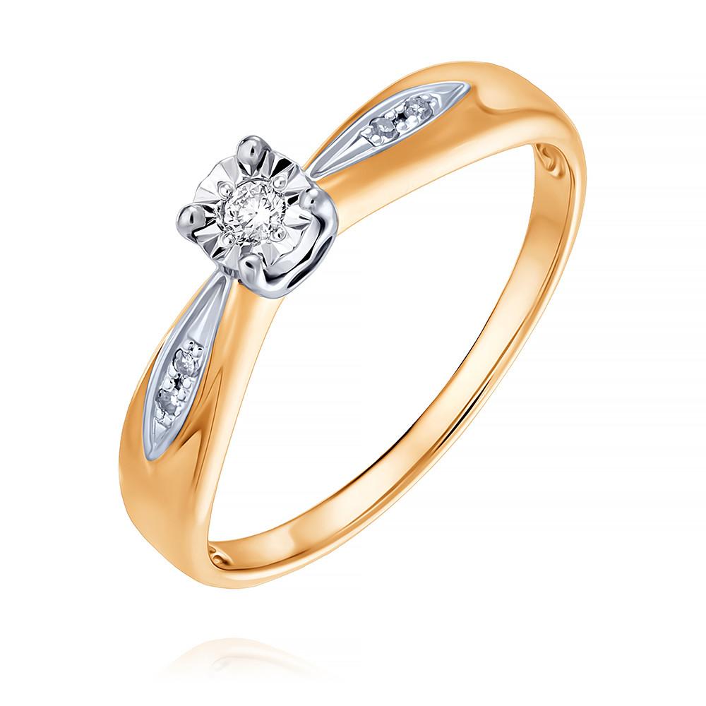 Купить Кольцо из красного золота 585 пробы с бриллиантом, SOKOLOV, Красный, Для женщин, 1452314/01-А50Д-41